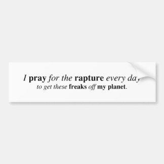 Ik bid voor de vervoering… bumpersticker