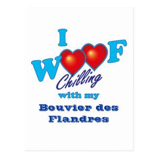 Ik blaf Bouvier des Flandres Briefkaart