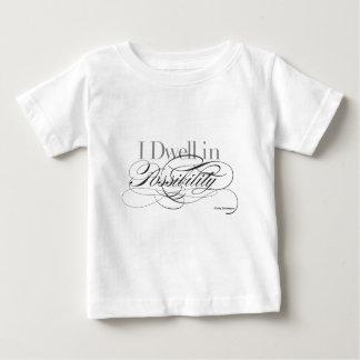 Ik blijf stilstaan in Mogelijkheid - het Citaat Baby T Shirts