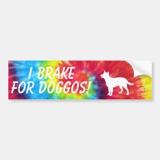 Ik breek voor de Kleurstof van het Stropdas Doggos Bumpersticker