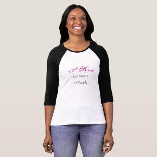 Ik brei heet roze en het honkbaloverhemd van t shirt