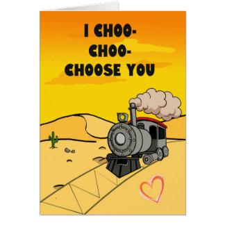 Ik choo-Choo-kies u Briefkaarten 0