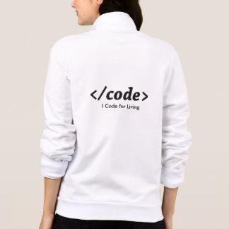 Ik codeer voor het Leven Fleece Jas