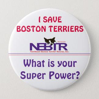 Ik de Knoop van SAVE BOSTON TERRIERS Ronde Button 4,0 Cm