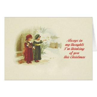 Ik denk aan u deze Kerstmis Kaart