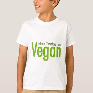 Ik denk.  Daarom ben ik Veganist T Shirt