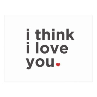 Ik denk de Liefde van I u Briefkaart