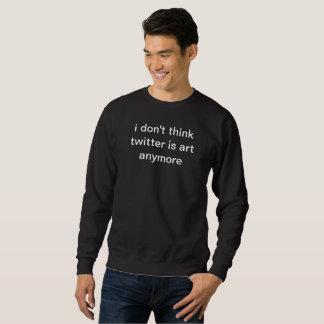 ik denk niet de tjilpen kunst anymore zwarte trui