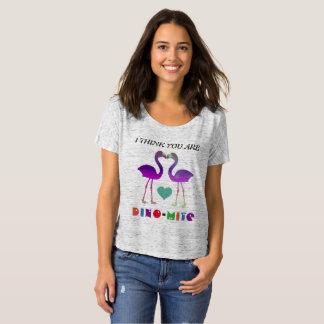 """""""ik denk u Dino-Mijt"""" de Dierlijke Woordspeling T Shirt"""