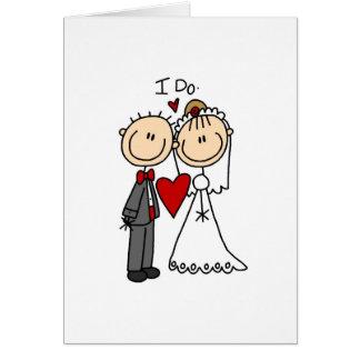 Ik doe de Kaart van de Ceremonie van het Huwelijk