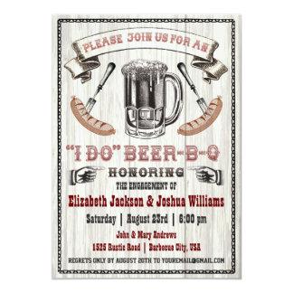 Ik DOE de Partij van het Verloving bier-B-Q 12,7x17,8 Uitnodiging Kaart
