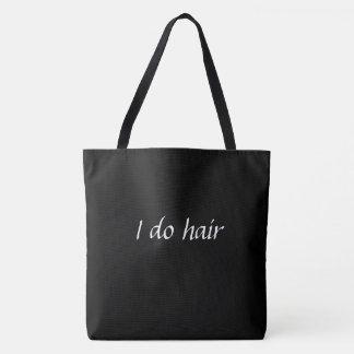 Ik doe de zak van het haarbolsa draagtas