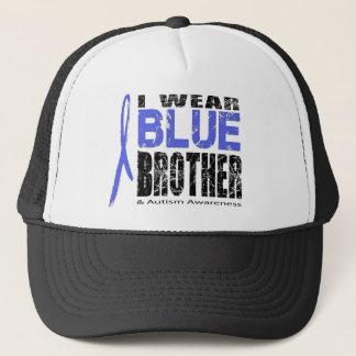 Ik draag blauw voor mijn broer trucker pet