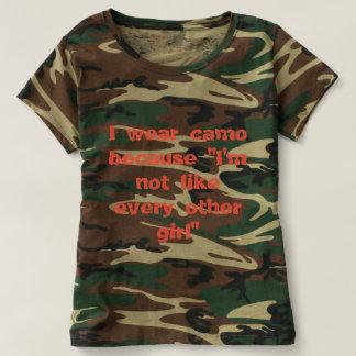 Ik draag camo omdat im als othere geen meisjes t shirts