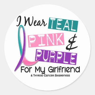 Ik draag het Lint van Kanker van de Schildklier Ronde Sticker