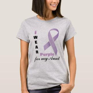 Ik draag Paarse van | Diy- Teksten T Shirt