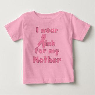 Ik draag Roze voor Mijn T-shirt van het Baby van