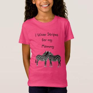 Ik draag Strepen voor mijn EDS van de Mama T Shirt