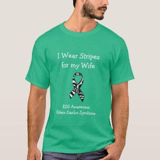 Ik draag Strepen voor mijn EDS van de Vrouw T Shirt