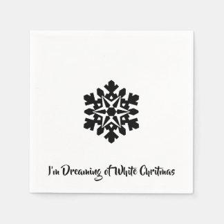 Ik droom van een Witte Chritmas Papieren Servet