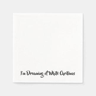 Ik droom van een Witte Chritmas Wegwerp Servetten