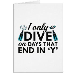 Ik duik slechts wenskaart