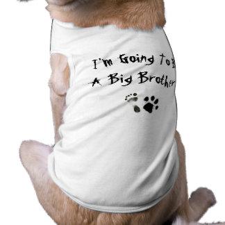 Ik ga een Grote Broer zijn! Mouwloos Hondenshirt