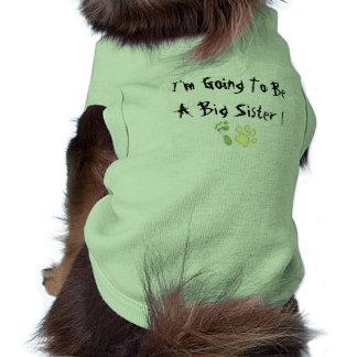 Ik ga een Grote Zuster zijn Mouwloos Hondenshirt
