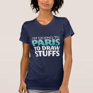 Ik ga naar de Grappige T-shirt van Parijs