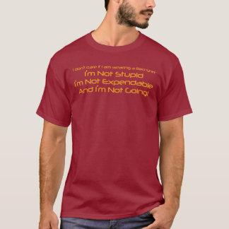Ik geef niet als ik een Rood Overhemd draag T Shirt