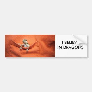 Ik geloof in de sticker gebaarde draak van de drak