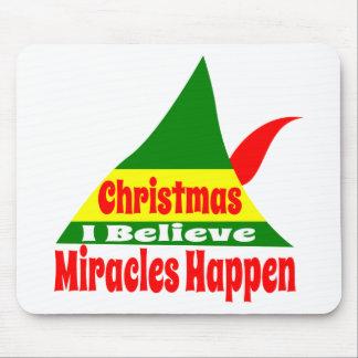 Ik geloof in Kerstmis NYC 1947 Muismat