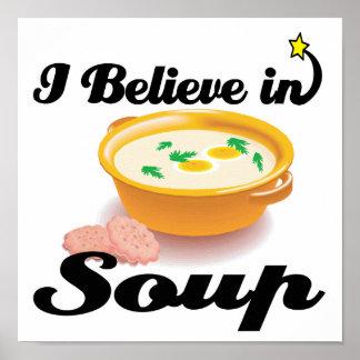 ik geloof in soep poster