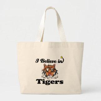 ik geloof in tijgers grote draagtas