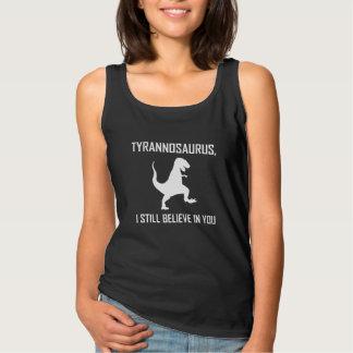 Ik geloof nog Tyrannosaurussen Rex Tanktop