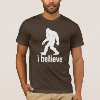 ik geloof - Wit Silhouet (distrssed) T Shirt