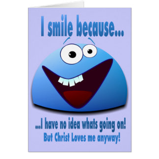 Ik glimlach omdat… V2 Kaart