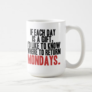 Ik haat de Mok van de Koffie van Maandagen