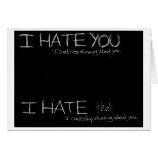 Ik haat u… kaart