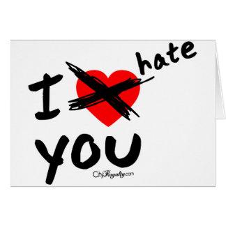 Ik haat u kaart
