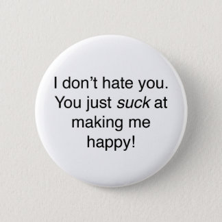 Ik haat u niet ronde button 5,7 cm