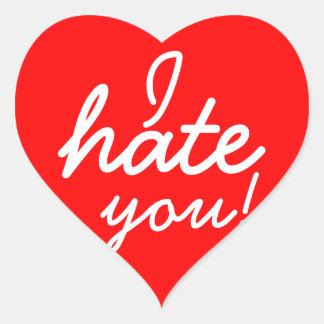 Ik haat u Stickers! Hart Sticker