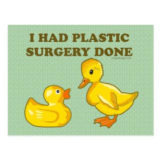 Ik had Gedaane Plastische chirurgie Briefkaart