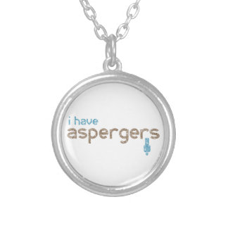 Ik heb aspergersman zilver vergulden ketting