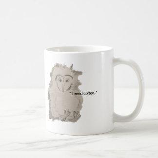 Ik HEB de jonge uilMok nodig van de KOFFIE Koffiemok