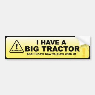 Ik heb een grote tractor bumpersticker