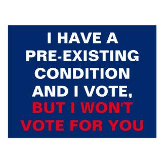 Ik heb een Reeds bestaande Voorwaarde en ik stem Briefkaart