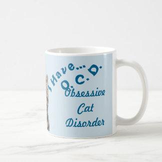 Ik heb het Obsessive Cat Dissorder Blauw van Koffiemok