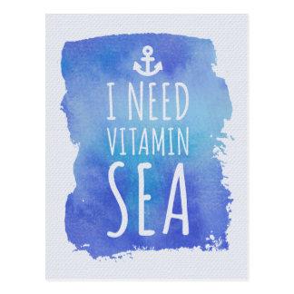 Ik heb het Zee van de Vitamine nodig Briefkaart