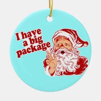 Ik heb Kerstman van een de Grote Pakket Rond Keramisch Ornament